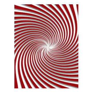 Peppermint Red Swirl and Shadow Postcard
