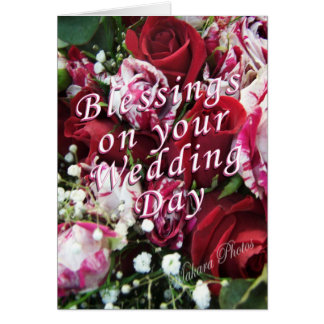 Peppermint Rose Wedding Card