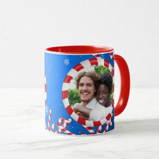 Peppermint Snowflakes Mug