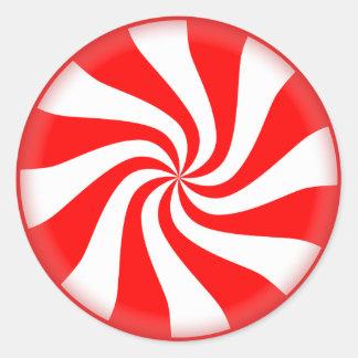 Peppermint Round Sticker
