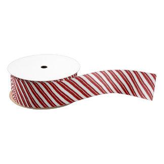 Peppermint Stripe Candy Cane Ribbon Grosgrain Ribbon