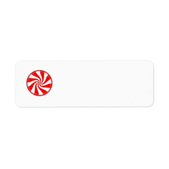 peppermint swirl candy return address label
