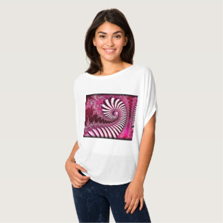 'Peppermint swirl' Custom Fractal Art T-Shirt
