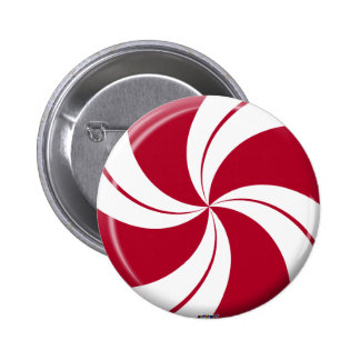 Peppermint Swirl Stripe Candy 6 Cm Round Badge