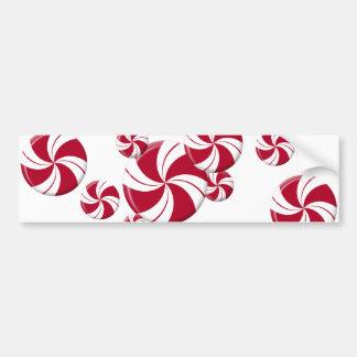 Peppermint Swirl Stripe Candy Bumper Sticker