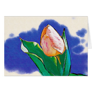 Peppermint Tulip Drawing Card