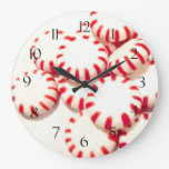 Peppermints Round Wall Clock