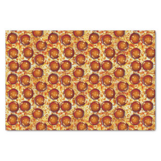 Pepperoni and Cheese Pizza Pattern Tissue Paper