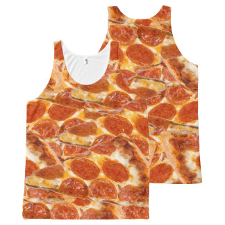 Pepperoni Pizza All-Over Print Tank Top