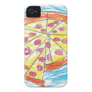 Pepperoni_Pizza_by_Nina_Age_6 iPhone 4 Case-Mate Case