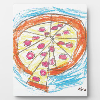 Pepperoni_Pizza_by_Nina_Age_6 Plaque