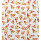 Pepperoni Pizza Drawing Pattern Shower Curtain