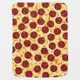 Pepperoni Pizza Pattern Baby Blanket