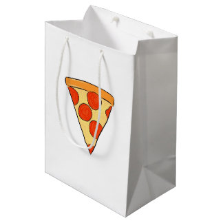 Pepperoni Pizza Slice Classic New York Style Pizza Medium Gift Bag