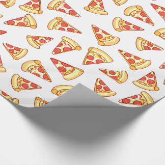 Pepperoni Pizza Slice Drawing Pattern Gift Wrap