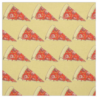 Pepperoni Pizza Slice Slices NYC Pizzas Fabric