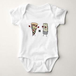 Pepperoni Pizza VS Burrito: Mexican versus Italian Baby Bodysuit