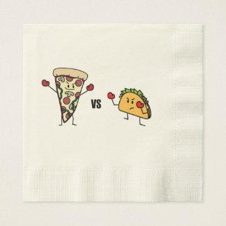 Pepperoni Pizza VS Taco: Mexican versus Italian Disposable Napkin
