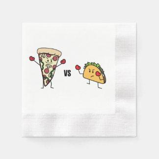 Pepperoni Pizza VS Taco: Mexican versus Italian Disposable Serviette
