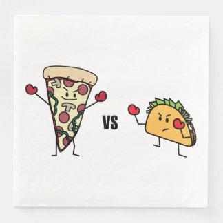 Pepperoni Pizza VS Taco: Mexican versus Italian Disposable Serviettes