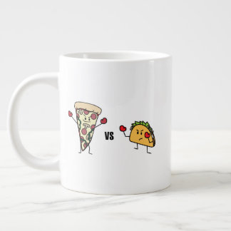 Pepperoni Pizza VS Taco: Mexican versus Italian Large Coffee Mug