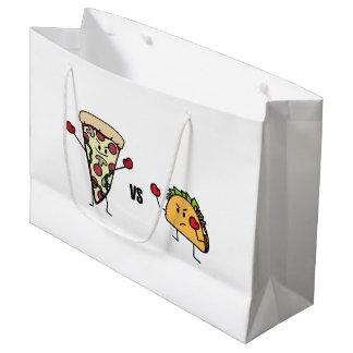 Pepperoni Pizza VS Taco: Mexican versus Italian Large Gift Bag