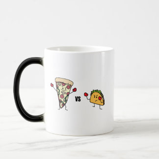 Pepperoni Pizza VS Taco: Mexican versus Italian Magic Mug