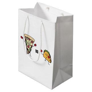 Pepperoni Pizza VS Taco: Mexican versus Italian Medium Gift Bag
