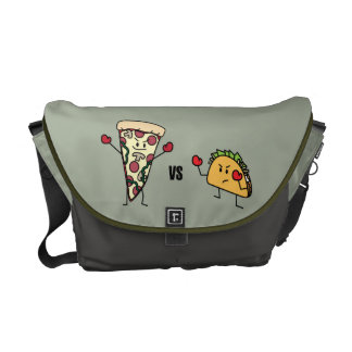 Pepperoni Pizza VS Taco: Mexican versus Italian Messenger Bags