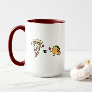 Pepperoni Pizza VS Taco: Mexican versus Italian Mug