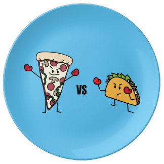 Pepperoni Pizza VS Taco: Mexican versus Italian Plate