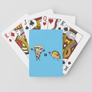 Pepperoni Pizza VS Taco: Mexican versus Italian Playing Cards