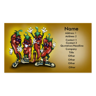 Peppers Card Pack Of Standard Business Cards