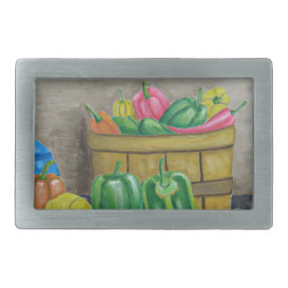 peppers rectangular belt buckle