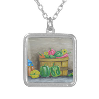 peppers silver plated necklace