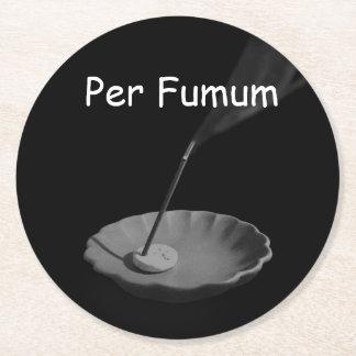 Per Fumum (type 1) Round Paper Coaster