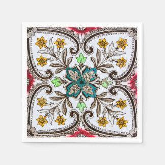 Peranakan Floral Tiles Disposable Napkin