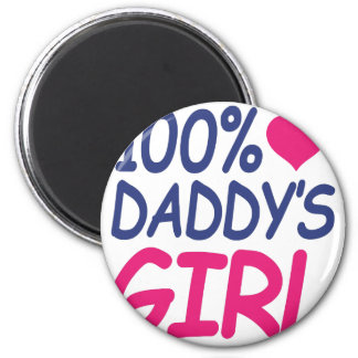 percent Daddy's girl Magnet