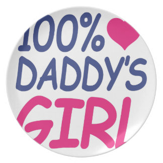 percent Daddy's girl Party Plate