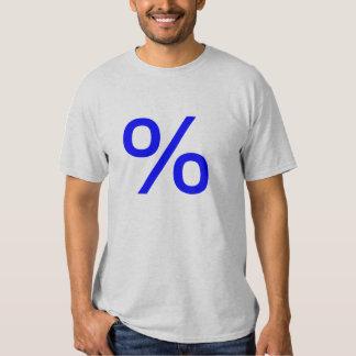 Percent (Small) - Blue T Shirts