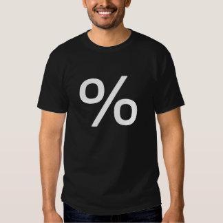 Percent (Small) - White on Dark T Shirt