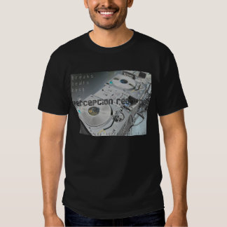 perception records decks t-shirt