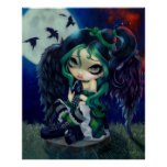 Perched and Sat and Nothing More ART PRINT fairy