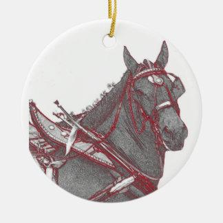 Percheron horse ornament