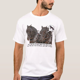 Percheron Wannabe Friesian Draft Horse T-Shirt