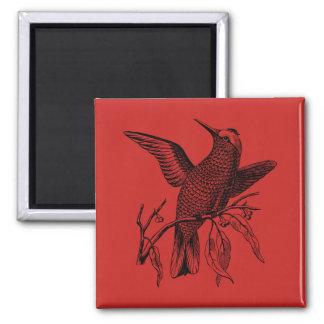 Perching bird magnet