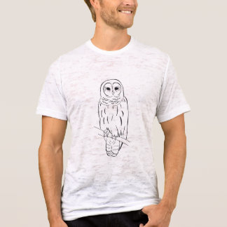 Perching Owl mens burnout t-shirt