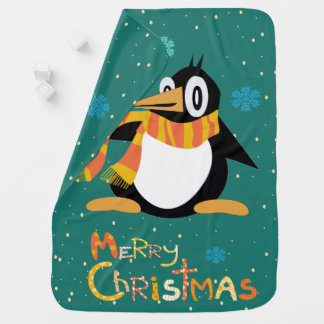 Percius The Penguin Merry Christmas Baby Blanket