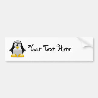 Percival the Peculiar Penguin Cartoon Bumper Stickers