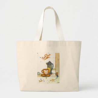 Percolating Some Coffee CricketDiane Coffee Art Tote Bags
